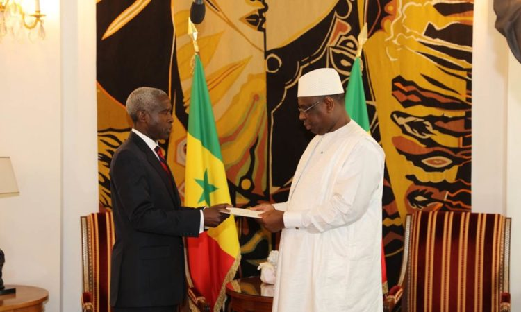 Ambassador Mushingi Presents His Credential Letters to President Macky Sall